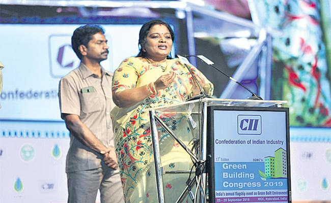 Uncontrolled Development Causes Climate Change Says Tamilisai - Sakshi