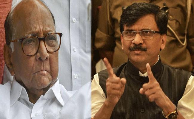 Sanjay Raut Supports NCP Leader Sharad Pawar - Sakshi