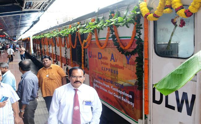 New Rail Uday Express Starts from Vizag To Vijayawada - Sakshi