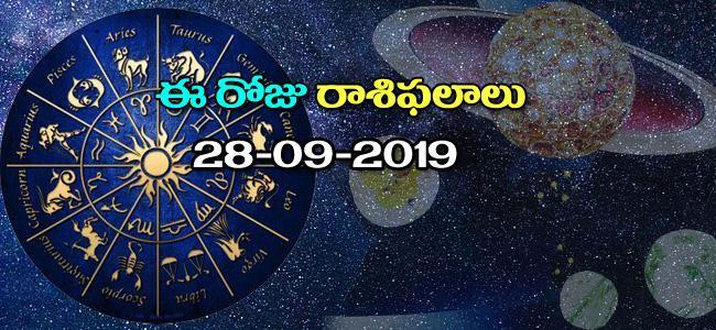 Daily Horoscope in Telugu (28-09-2019) - Sakshi