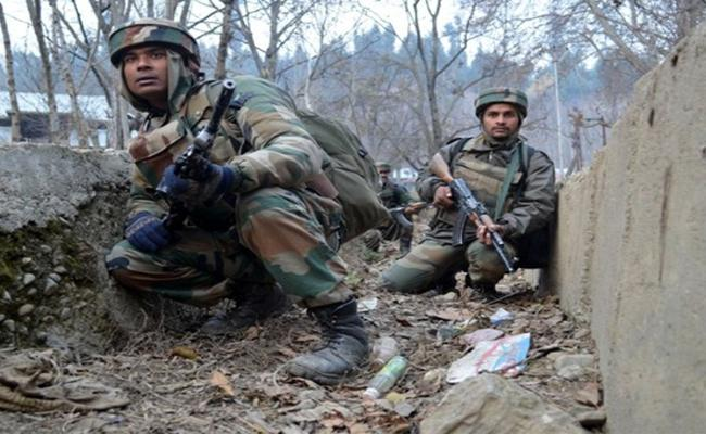 Three Terrorist Killed in Jammu Kashmir - Sakshi