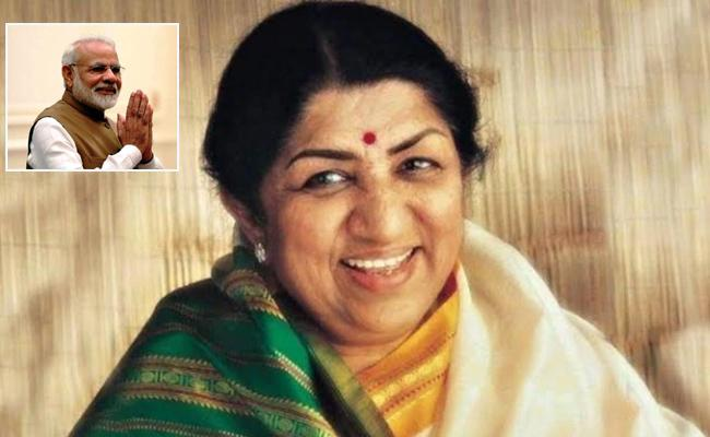Modi Calls Lata Mangeshkar To Wish Happy Birthday - Sakshi