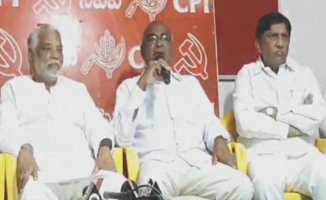TRS Aks CPI Support In Huzurnagar Bypoll - Sakshi