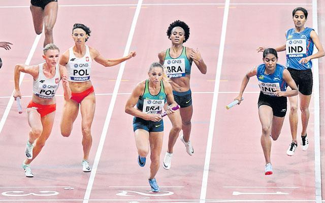 India 4x400m Mixed Relay Team Seals Tokyo Olympics Berth  - Sakshi