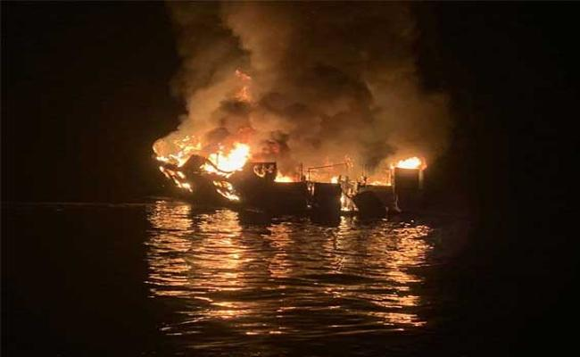 33 Missing In Boat Fire Off California Coast - Sakshi
