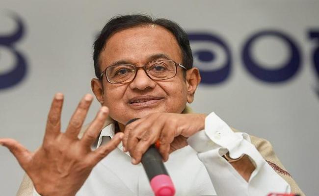 Chidambaram Slams BJP Govt Over GDP Slowdown - Sakshi