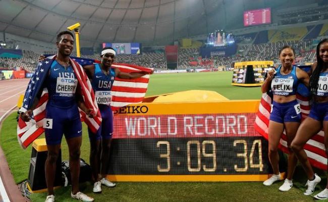 Allyson Felix Surpasses Usain Bolts World Record - Sakshi