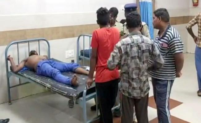 TDP Leader Attacks on YSRCP Worker in Nandigama - Sakshi
