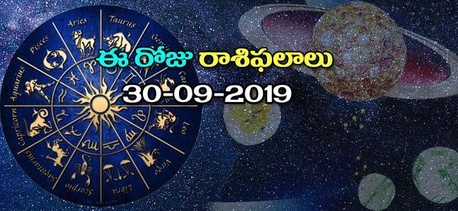 Daily Horoscope in Telugu (30-09-2019) - Sakshi