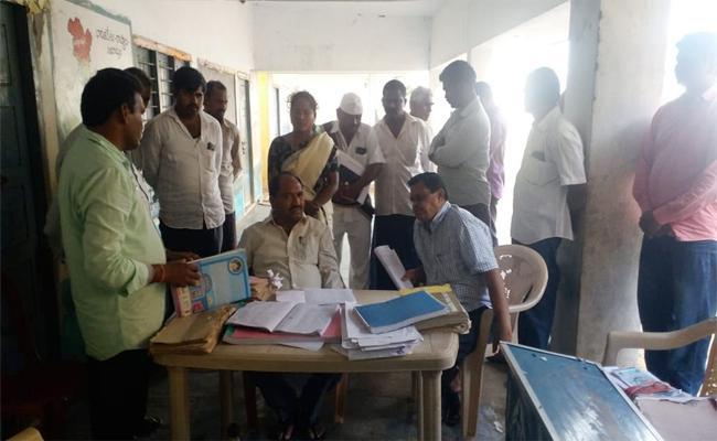 Irregularities In Revenue Land At Prakasam - Sakshi