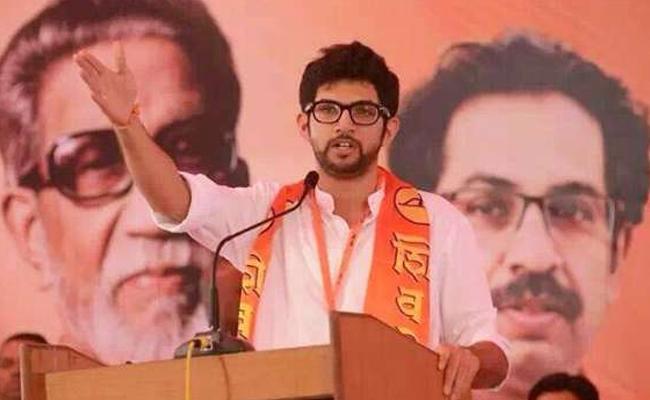 Shiv Sena Chief Uddhav Thackeray Son Adithya Make Debut Worli - Sakshi