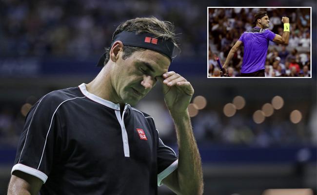US Open Unseaded Grigor Dimitrov Wins Against Roger Federer In Quarters - Sakshi