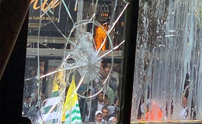 Violent Protests By Pak Supporters At Indian High Commission In London - Sakshi