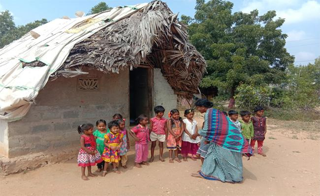 Play Equipments Not Available In Anganwadi Centre - Sakshi