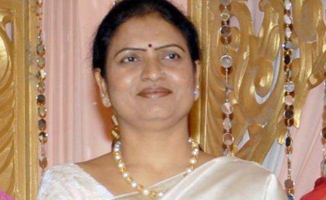 DK Aruna Protested the Damaged Roads in Jogulamba Gadwal District - Sakshi