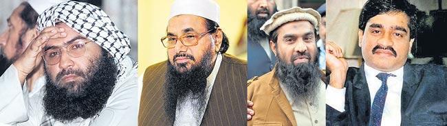 Masood Azhar, Hafiz Saeed, Dawood declared terrorists under new UAPA law - Sakshi