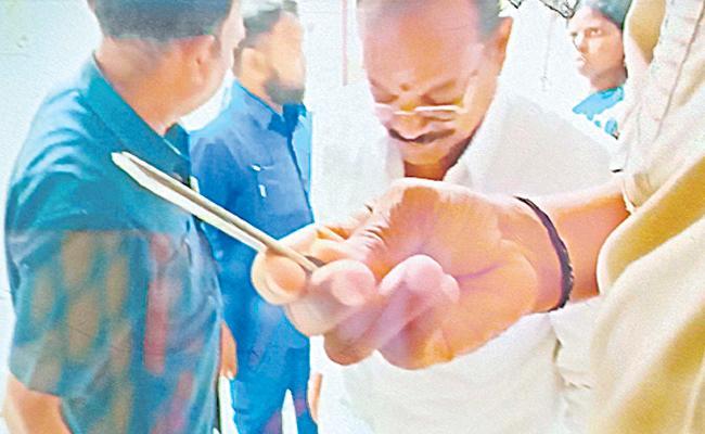Sword Knife Found In Bandaru Dattatreya House Police Alert - Sakshi