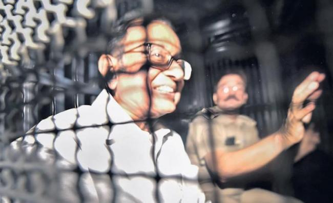 P Chidambaram Sent to Tihar Jail For 14 Days - Sakshi