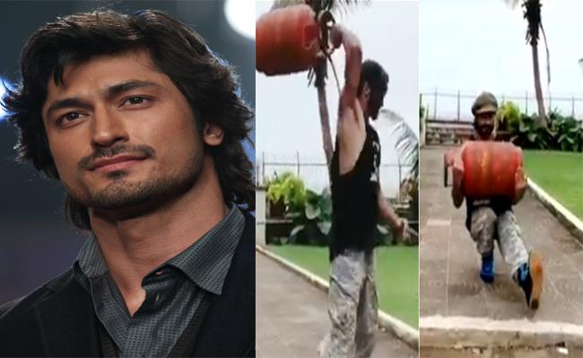 Vidyut Jammwal Workouts With Full Cylinder - Sakshi