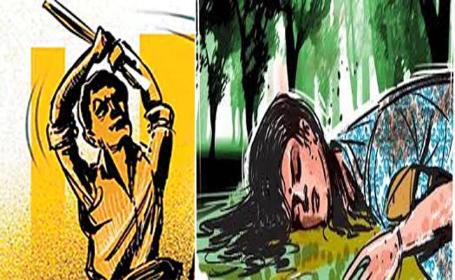 Woman Hacked To Death Over Land Disputes At Madgulapalli - Sakshi