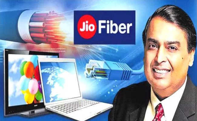 Mukesh Ambani Launch Jio Fibre With Special Offers - Sakshi