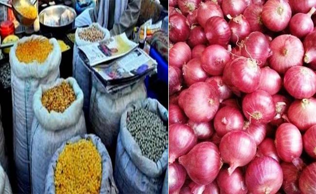 Onion And Pulses Prices Are High In Karimnagar - Sakshi