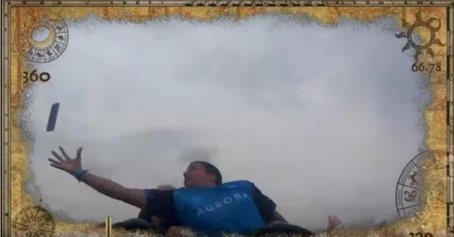 Man Catches Stranger Phone Mid Air While Riding Roller Coaster - Sakshi