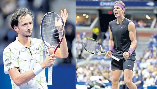 Rafael Nadal to face Daniil Medvedev in final - Sakshi