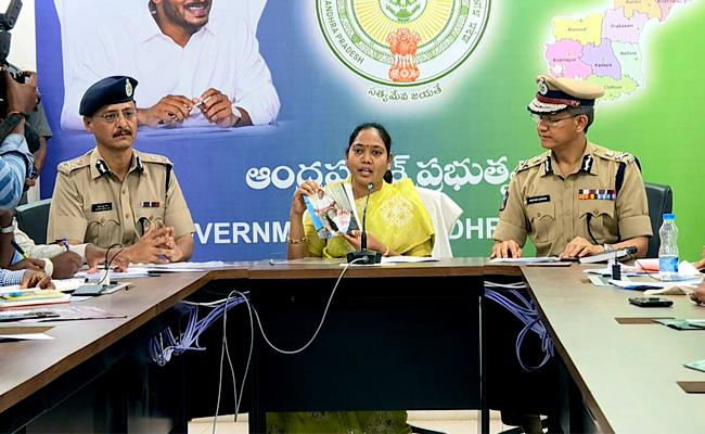 Home Minister Sucharitha Says Law And Order Under Control In State - Sakshi