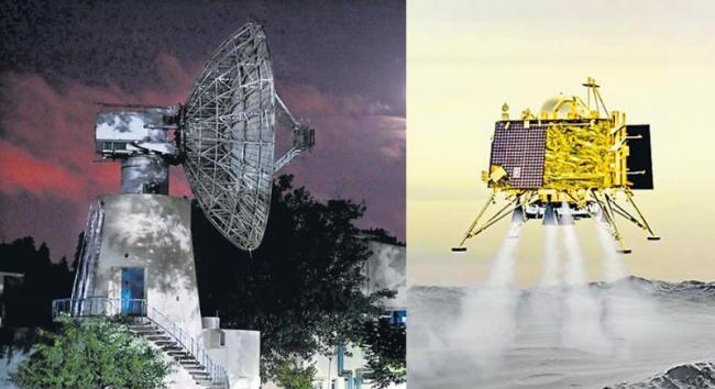 Vikram lander located on lunar surface, was not a soft landinding - Sakshi