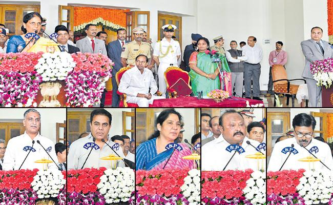 KCR Expands Telangana Cabinet - Sakshi