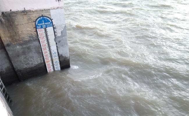 Water Overflow In Nagarjunasagar - Sakshi