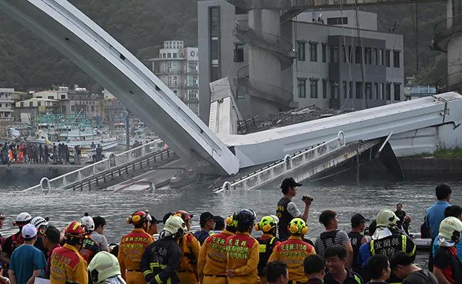 Bridge Collapse In Taiwan - Sakshi