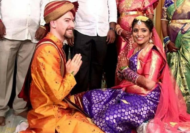 Telugu Girl Married American Boy in Krishna District - Sakshi