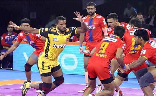Telugu Titans Beat 41-36 UP Yodha - Sakshi