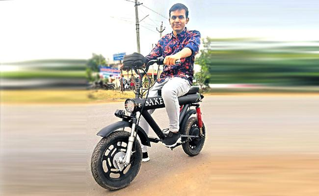 Parvathipuram Man Making A New E Bike In Just 15 Hours - Sakshi