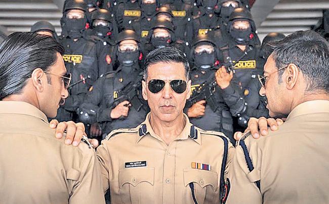Singham and Simba accompany Suryavanshi in Desi Cop Universe - Sakshi