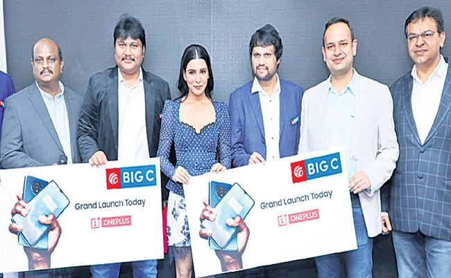 One Plus 7t Mobile Sales in BIG C Show Rooms - Sakshi
