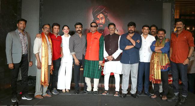 T Subbarami Reddy felicitates Sye Raa Narasimha Reddy Team - Sakshi