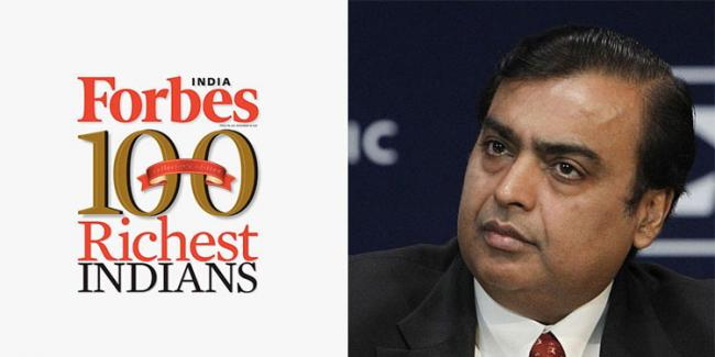 Mukesh Ambani continues to rule Forbes India rich list - Sakshi