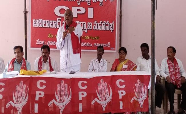 CPI State Secretary Slams CM KCR Over RTC Strikes In Adilabad - Sakshi