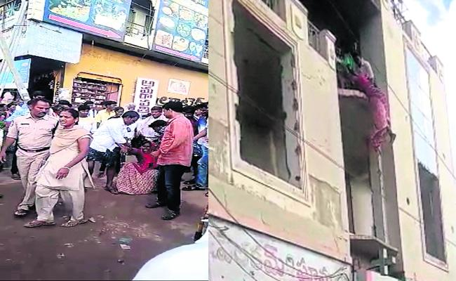 woman Attempt Suicide In Front Of Police Station In Kurnool  - Sakshi