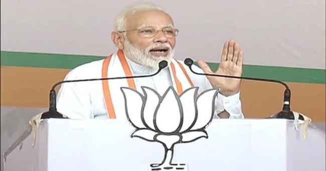 PM NARENDRA MODI Dares Oppn to Bring Back Article 370 - Sakshi