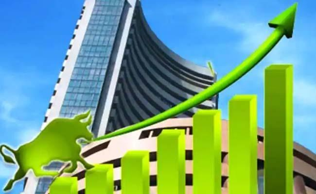 sensex jumps Over 350 Points, Nifty Above 11,400 - Sakshi