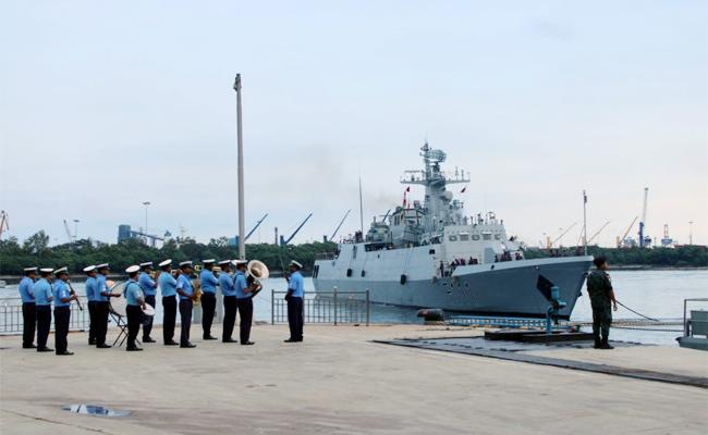 Bangladesh Warships in Visakhapatnam Port - Sakshi