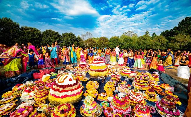 Dasara Celebrations Made By Greater Atlanta Telangana Society In New York - Sakshi