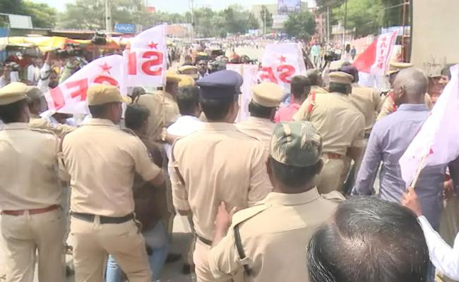 TSRTC Strike Enters 11th Day on Tuesday - Sakshi