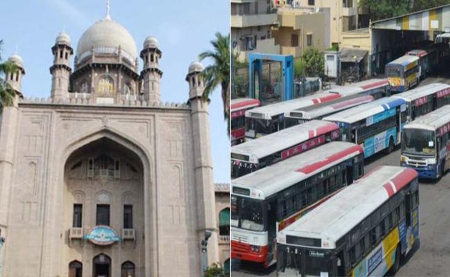 Telangana High Court Comments On TSRTC Strike - Sakshi