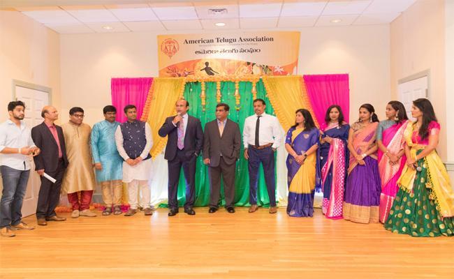 Dusserah Celebrations Made Successful By American Telugu Association In Bostan - Sakshi