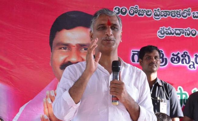 Minister Harish Rao Distributed Cows to Farmers in Siddipet - Sakshi